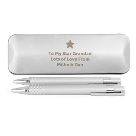 Personalised Star 2 Pen Box Set